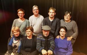 Un soir d'octobre, à la fin d'une répétition. Théâtre de St Mathurin sur Loire